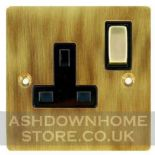 Flat Plate Antique Bronze Plug Sockets 13 Amp